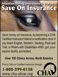 Print Ad Design Certified Horsemanship Association CHA Member Insurance Benefit