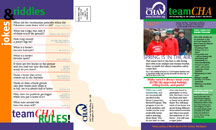 Brochure Design TeamCHA Youth Association Newsletter