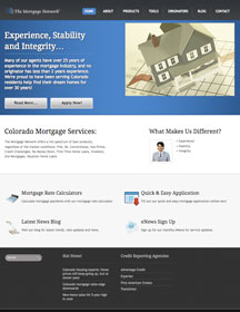 Website Design Services for The Mortgage Network Online