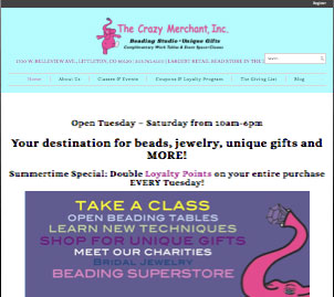The Crazy Merchant Jewelry Website Reesign