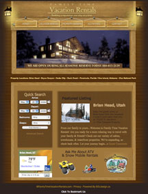 Website Design Family Time Vacation Rentals