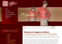 Haggerty ArtWear custom apparel design website design services