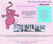 Jewelry Website Design, The Crazy Merchant