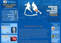 Website Design The Virtual Sports Academy