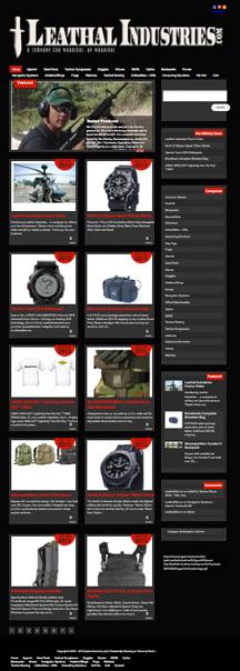 Military Equipment Online Warehouse Website Design