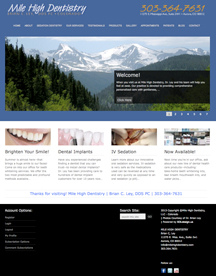 Colorado Website Design Mile High Dentistry